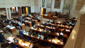 Nebraska Legislature in session, March 15, 2017