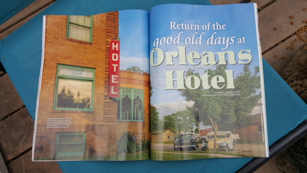 Orleans Hotel feature article in Nebraska Life